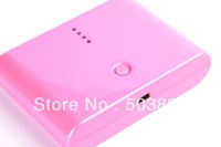 High Quality!NORMI 12000mah power supply External Battery Power Bank for iphone 5 4S mobile backup batteryfor samsung,pink color
