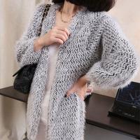 2013 autumn and winter women medium-long plus size sweater female cardigan sweater
