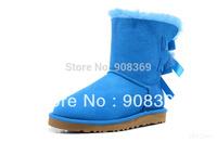 int'l Brand Kid Genuine Australia sheepskin 100% Wool inside 3280 Bow for boy girls warm winter mid-calf  short snow boot
