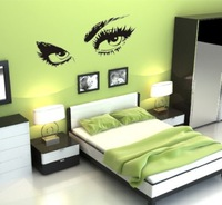 Eyes 2014 New design Vinyl Wall Stickers Eye Wall  Home decoration Wall decals for Kids Nursery Living Rooms Free Shipping