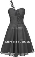 FairOnly New Fashion Modern Black Beading One-Shoulder Short Homecoming Dress 2014