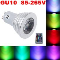 50X Free Shipping! Energy Saving 3W E27 GU10 MR16 RGB LED Bulb Lamp light Color changing IR Remote