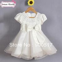 2014 New design girls crystal dress kids party one-pieces children tutu dress girls princess clothes