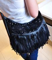 NEW STYLE bolsas femininas,bolsa franja,desigual solid  black fringe bags,bags handbags women famous brands bolsa,purse womens5A