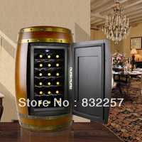 Top Grade Thermostated Oak Wine  Capinet,  Electronic wine Cooler, Solid wood antique  for 18 Bottles Wine