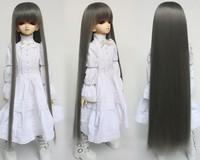 1 / 4 bjd doll wig long hair black 4015