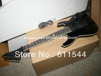 Black Custom Shop 7 Strings  Electric Guitar High Quality Wholesale Free Shipping