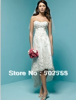 Free shipping LC052 lace beach wedding dress