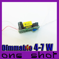 [220V-240V] Wholesale 100pcs Triac Dimmable (4-7) X1W LED Driver