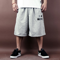 free shipping summer loose hiphop hip hop bboy hiphop dancer jazz sports casual short trousers  loose big fashion cool men