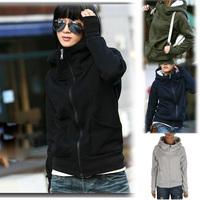 2014 New Autumn-Summer Woman Hoodies  Finger Long-sleeved Zipper Sweatshirts Sport Suit Women Jacket  Coat Sportswear 48302