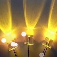 ball Light Beads Free shipping round shape high light yellow  lamp LED  angle 30 traffic sign light use led sreen uv resistant