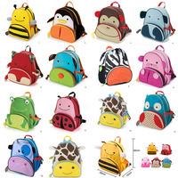 New Children School Bag Cartoon Animal Canvas Bag Backpacks Child Bags Toddler Shoulder bag Kindergarten Schoolbag 02384