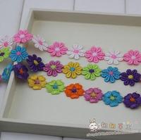 Accessories diy patchwork fabric multicolour hydrotropic laciness terylene fabric 2.9 meters