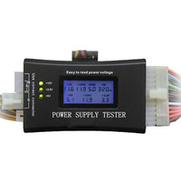 New Arrival High Quality Computer PC Power Supply Tester Checker 20/24 pin SATA HDD ATX BTX Meter LCD #L94505