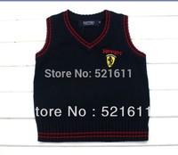Free shipping cotton children clothes autumn/spring V-neck vest sweater kids waistcoat vest girls boys knit clothing