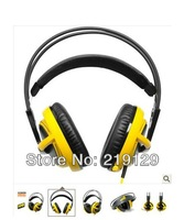 SteelSeries Siberia V2 Headset for Gamers and Audiophiles Headphone Yellow Free Shipping Drop Shipping 1PCS