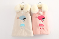 Wholesale 2014 children clothing New baby girl Dress wool blend  outerwear sleeveless Vest dress Free shipping GW-325