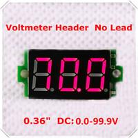 """DC 0-100V 0.36"""" Digital Voltmeter  Header No Lead 3 digit  Voltage Panel Meter led Display Color : Red  [ 100 pieces / lot]"""