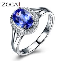 ZOCAI BRAND 1.0 CT TANZANITE with 0.07 CT DIAMOND WOMAN tanzanite engagement Romantic RING W04413