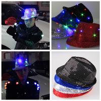 20Pcs/Lot Hip-hop LED light-emitting hat Party Hat Football Fans Hat  LED Hat Flashing Cap Free Shipping