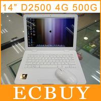 14 inch Windows Laptop Gaming Computer Intel D2500 1.86Ghz Dual Core Ultrabook 4GB RAM 500GB HDD Multi Language OS & Keyboard