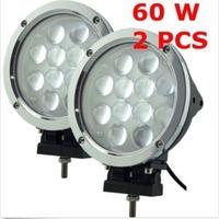 FREE DHL SHIP 2pcs 60W CREE LED Offroad Working Light IP68 Track Farming 4WD Work Lamp 12*5W Flood Spot Beam Driving Worklight