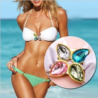 Brazilian bikini swimwear women 2014 new set auger VS Super micro bikinis set on beach free shipping