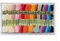 Free Shipping 50PCS=1 lot sewing thread cotton similar dmc thread floss skein cross stitch thread CXC embroidery thread