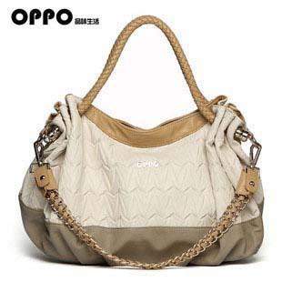 women leather handbags, authentic Hong Kong OPPO brand women handbag, fold bag chain bag wholesale, free shipping(China (Mainland))