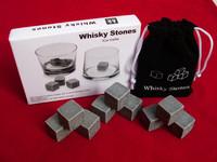 New arrival hotsale whiskey stones 9pcs (1 sets) velvet bag whisky rocks whisky stones beer stone whisky ice stone Free shipping