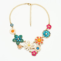 Vintage Style  Fashion Resin Flower Chokers Charms Collar  Necklace For Wedding Women