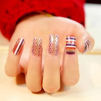 $2 new 12 designs 16pcs x1pack nails art stickers decals foils tips wraps DIY decorations  nail tools Beautiful stripes