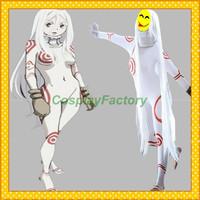 Free Shipping Custom Made Deadman Wonderland Anime Cosplay Shiro Party Costume,1.5kg/pc