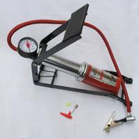 Car high pressure pump,car motorcycle inflatable pump universal foot pump with Barometer