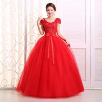 Free Shipping 2014 New Arrival  Formal Dress Hot-selling Sweet Princess Lace Bandage Wedding Dress