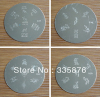 Different designs+20PCS/lot Different Round Stainless Steel Image Plate DIY Nail Art Stamping Template