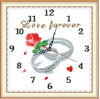 Print cross stitch new arrival clock romantic series