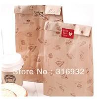 E1 Free Shipping 50pcs thicken printing kraft paper bag packaging bags 28cm*15cm*9cm