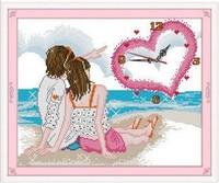 Print cross stitch new arrival clocks in love romantic series