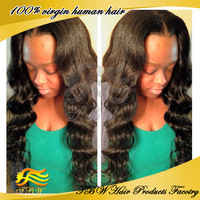 2014 Free Shipping !! Unprocessed Virgin Malaysian Human Hair U Part Wig With Bangs On The Side In Stock