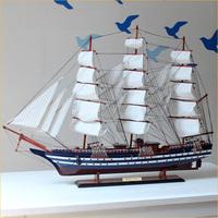 Fashion american vintage wool sailing boat model decoration wooden decoration warsaws Large
