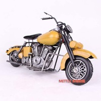 Fashion american vintage motorcycle model decoration iron sheet home decoration iron