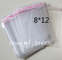 E4 Clear Resealable Cellophane/BOPP/Poly Bags 8*12 cm  Transparent Opp Bag Packing Plastic Bags Self Adhesive Seal