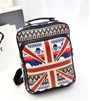new 2014 PU material england flag backpack women student british flag women backpack school bag women's  Skull backpack