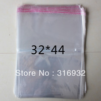 E4 Clear Resealable Cellophane/BOPP/Poly Bags 32*44 cm Transparent Opp Bag Packing Plastic Bags Self Adhesive Seal