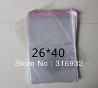 E4 Clear Resealable Cellophane/BOPP/Poly Bags 26*40 cm Transparent Opp Bag Packing Plastic Bags Self Adhesive Seal