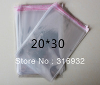 E4 Clear Resealable Cellophane/BOPP/Poly Bags 20*30 cm Transparent Opp Bag Packing Plastic Bags Self Adhesive Seal