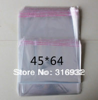 E4 Clear Resealable Cellophane/BOPP/Poly Bags 45*64 CM clothes Transparent Opp Bag Packing Plastic Bags Self Adhesive Seal