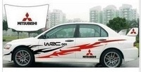 Mitsubishi v3 lancer vehicle stickers car body garland